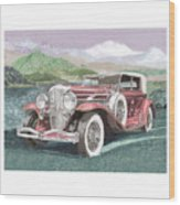 1930 Model J  Duesenberg Wood Print