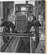 1930 Model T Ford Monochrome Wood Print