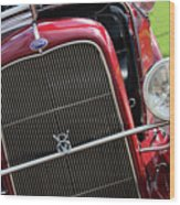 1930 Red Ford Model A-front-8886 Wood Print