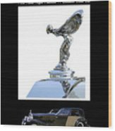 1930 Rolls Royce Mascot And Car Wood Print