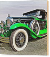 1930 Willys Knight 66b-plaidside Wood Print