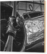 1930s Lockheed Electra Aircraft Wood Print