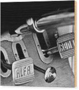1931 Alfa Romeo 6c 1750 Gran Sport Aprile Spider Corsa Pedals -3689bw Wood Print