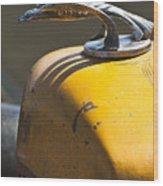 1931 Chevrolet Hood Ornament On A 1951 For Rat Rod Wood Print