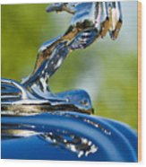 1931 Chrysler Cn Roadster Hood Ornament 2 Wood Print