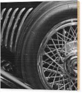 1931 Duesenberg Model J Spare Tire 2 Wood Print