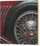 1931 Duesenberg Model J Spare Tire Wood Print