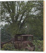 1931 Ford Model A Final Resting Place Wood Print