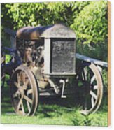1931 Fordson Tractor Wood Print