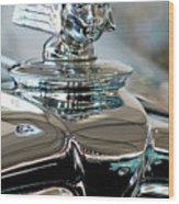 1931 Stutz Dv-32 Sedan Hood Ornament Wood Print