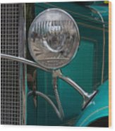 1931 Teal Chevy Hot Rod Headlight Wood Print
