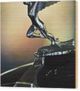 1932 Auburn 12-160 Speedster Hood Ornament Wood Print