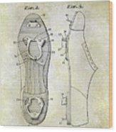 1932 Baseball Cleat Patent Wood Print
