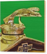 1932 Chevrolet Eagle Hood Ornament Wood Print