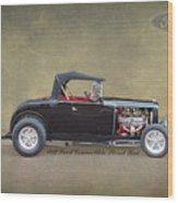 1932 Ford Convertible Street Rod Wood Print