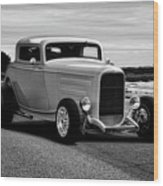 1932 Ford Coupe 'black And White' Wood Print