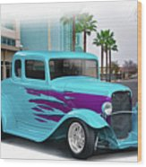 1932 Ford 'down Town' Coupe Wood Print