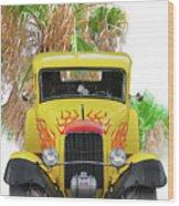 1932 Ford Five-window Coupe 'head On' I Wood Print