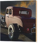 1932 Ford Five Window Coupe 'leaving Town' Wood Print