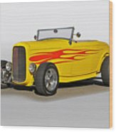 1932 Ford 'flame Game' Roadster Wood Print
