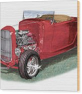 1932 Ford Hi-boy Hot Rod Wood Print