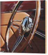 1932 Ford Hot Rod Steering Wheel 2 Wood Print