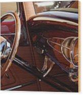1932 Ford Hot Rod Steering Wheel 3 Wood Print