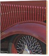 1932 Ford Hot Rod Wheel Wood Print