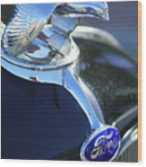 1932 Ford Quail Hood Ornament Wood Print