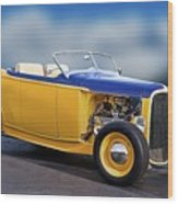 1932 Ford Roadster 'pass Side' L Wood Print