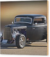 1932 Ford 'silky Satin' Coupe I Wood Print