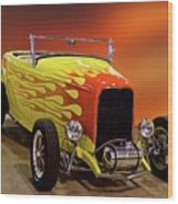 1932 Ford 'sunset' Studio' Roadster Wood Print
