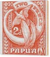 1932 Papua New Guinea Bird Of Paradise Postage Stamp Wood Print
