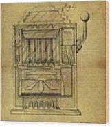 1932 Slot Machine Patent Wood Print