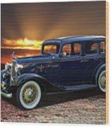 1933 Chevrolet 4 Door Eagle Sedan Wood Print