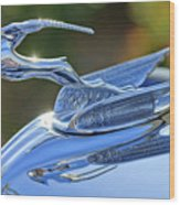 1933 Chrysler Imperial Hood Ornament 2 Wood Print