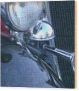 1933 Dodge Headlights And Horn Wood Print