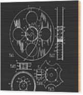 1933 Film Reel Patent Wood Print