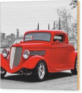 1933 Ford 'three Window' Coupe I Wood Print