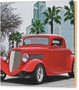 1933 Ford 'three Window' Coupe II Wood Print