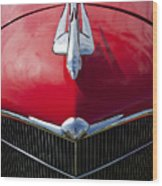1933 Oldsmobile Hood Ornament Wood Print