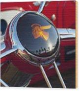1933 Pontiac Steering Wheel Wood Print