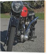 1934 Ariel Motorcycle Front View Wood Print