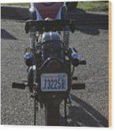1934 Ariel Motorcycle Rear View Wood Print