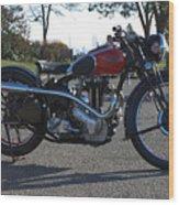 1934 Ariel Motorcycle Side View Wood Print