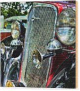 1934 Chevrolet Head Lights Wood Print