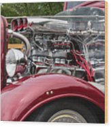 1934 Chevy Truck Motor Wood Print