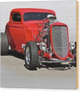 1934 Ford 'mean And Nasty' Coupe Wood Print