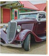 1934 Ford Roadster Hot Rod Wood Print