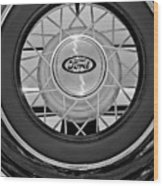 1934 Ford Roadster Spare Tire 2 Wood Print